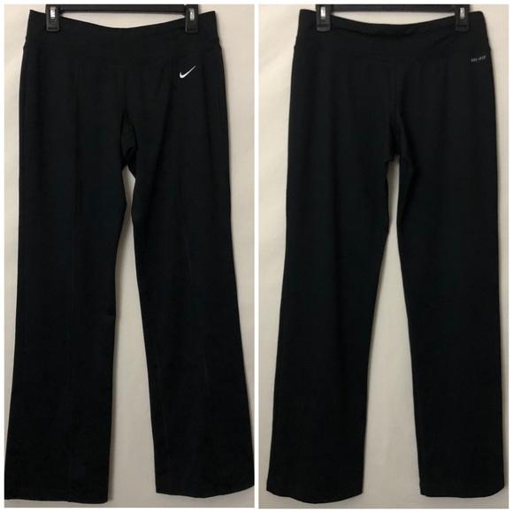 Nike Dri Fit Boot Cut Yoga Work Out Pants Black